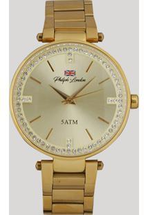06b08074c03 Relógio Analógico Philiph London Feminino - Pl81002145F Dourado - Único