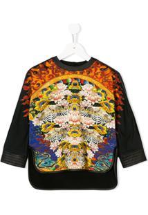 076e9c3729236 Roberto Cavalli Junior Water Lily Print Sweatshirt - Preto