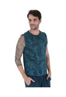 Camiseta Regata Oxer Camuflagem - Masculina - Azul Mescla