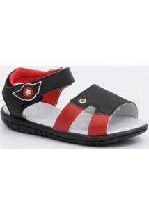 Sandália Infantil Recorte Velcro Pimpolho