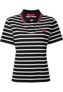 Mcq Alexander Mcqueen Camisa Polo Listrada  Swallow  - Preto 8ff0f30b2123b