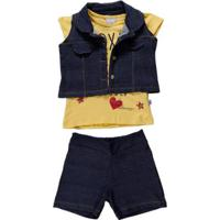 44660a85ec Conjunto Marco Textil Kids Infantil - Feminino-Amarelo