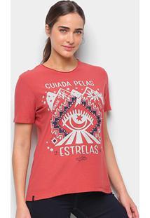 Camiseta T-Shirt Cantão Classic Esotérica Feminina - Feminino-Caramelo