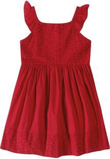 Vestido Com Laíse Malwee Kids - Vermelho - 14