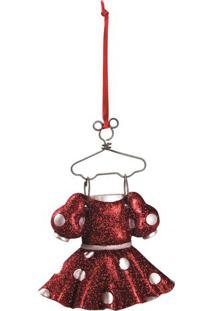 Enfeite Vestido Minnieâ®- Vermelho & Off White- 5X10Xcromus