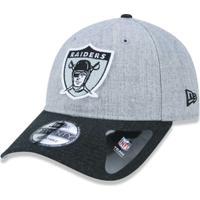 Boné 920 Oakland Raiders Nfl Aba Curva Strapback New Era - Masculino-Mescla 41d7a679142
