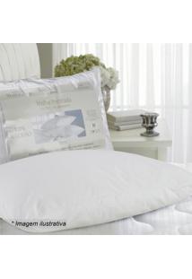Travesseiro Em Malha Penteada- Branco- 70X50Cm- Sultan