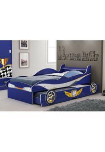 Cama Bicama Enzo 090 Em Mdf Azul - Gelius
