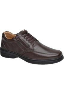 Sapato Sapatoterapia Comfort Couro De Carneiro Preto 44706 - Masculino