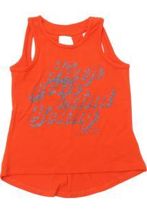 Camiseta Calvin Klein Kids Menina Estampado Laranja