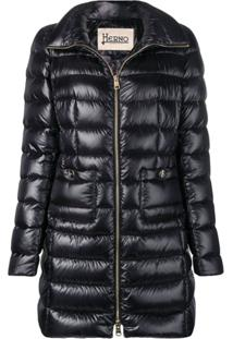 Herno Mid-Length Puffer Jacket - Preto