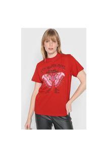 Camiseta Colcci Set Your Mind Vermelha