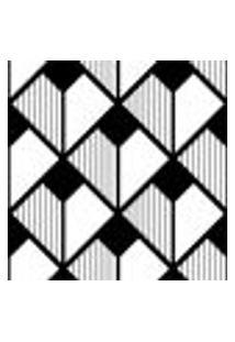 Papel De Parede Autocolante Rolo 0,58 X 5M - Preto E Branco 0199