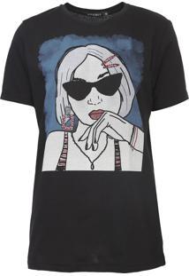 Camiseta Fiveblu Foto Preta
