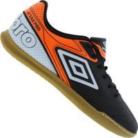 Centauro. Chuteira Futsal Umbro Attak Pro Ic - Adulto - Preto Laranja 2ab59ff8f05ad