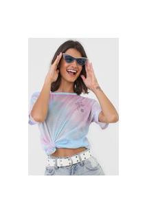 Camiseta Hang Loose Tie Dye Rosa/Azul
