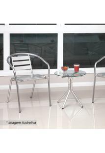 Conjunto De Mesa De Centro & Cadeiras Lais - Incolor & Palegro