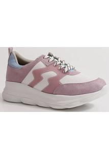 Tênis Feminino Sneaker Recorte Via Marte