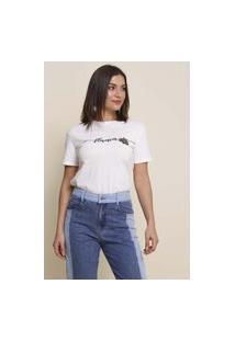 T-Shirt Bordado Florescer