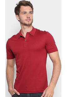 00891ee313486 Camisa Polo Lacoste Slim Fit Em Piquet Mercerise Masculina - Masculino -Vermelho