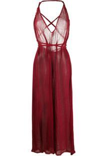 Caravana Vestido Gola V Bolmay - Vermelho