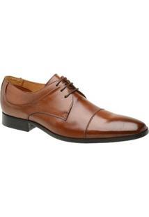 Sapato Masculino Social Malbork Couro Whisky Sola Couro 56002 - Masculino-Caramelo+Amarelo