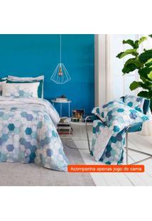 Jogo De Cama Queen Com 4 Peças Home Design Ii Algodão Azul