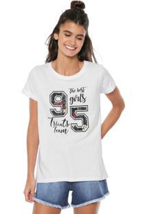 Camiseta Tricats Estampada Branca