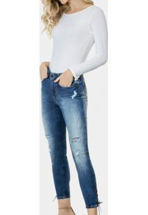 Calça Cropped Bali Duo Core I Am Soft Jeans - Lez A Lez