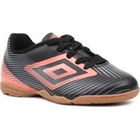 a42c0328f9 Tênis De Futsal Infantil Para Menino Umbro Speed Ii Jr Preto Coral -  Masculino-