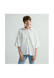 Camisa Ampla Manga Balonê | Marfinno | Branco | Gg