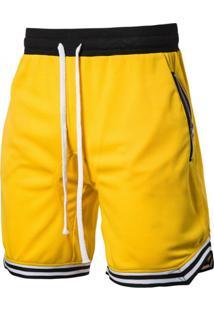 Bermuda Masculina Com Cordão - Amarelo P
