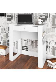 Mesa Para Computador Com 1 Gaveta Lisboa - Art In Móveis - Branco