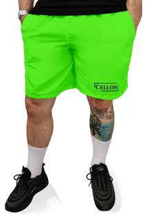 Bermuda Tactel Neon Cellos Bar Code Premium Verde