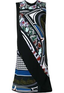 Versace Vestido Com Estampa Cityscape - Preto