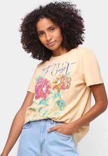 Camiseta Colcci Trust Feminina - Feminino-Bege