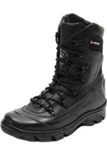 Bota Militar Motociclista Atron Shoes 289 Preta - Preto - Masculino - Dafiti
