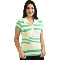Blusa Moché Camisa Polo - Feminino-Verde c391a698dda1a