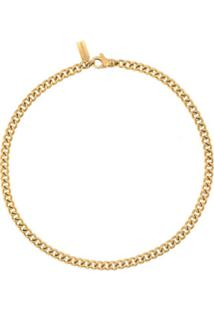 Nialaya Jewelry Faceted Chain Necklace - Dourado