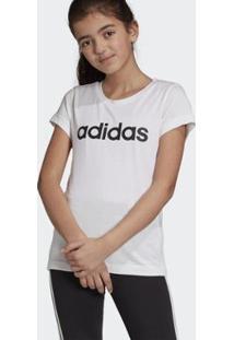 Camiseta Essentials Linear Adidas Feminino - Feminino-Branco
