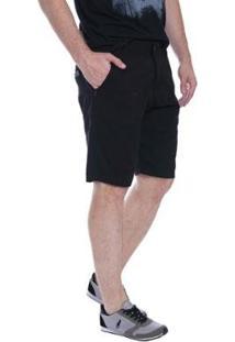Bermuda Jeans Eventual Casual Masculina - Masculino-Preto