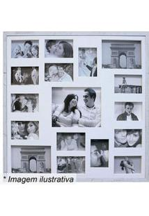 Kapos Painel Para 17 Fotos Branco 73X73X3Cm