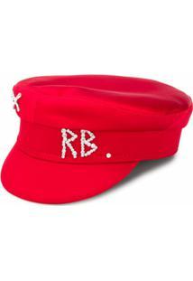 Ruslan Baginskiy Chapéu Com Placa De Logo - Vermelho