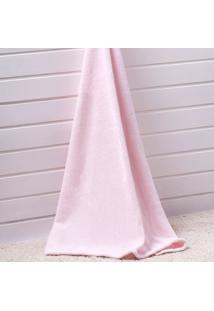 Manta Glorious Baby Flannel Le Petit - Corttex - Rosa