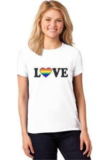Camiseta T-Shirt Lgbt Love Baby Look Feminina - Feminino
