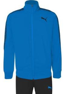 Agasalho Puma Graphic Tricot Suit Op Masculino - Masculino-Azul+Preto