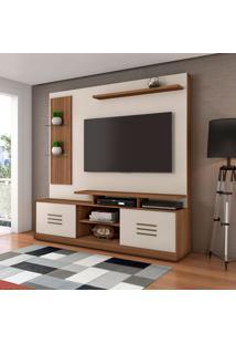 Estante Para Home Theater E Tv Até 60 Polegadas Samba Rovere E Off White
