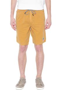 Bermuda Sarja Calvin Klein Jeans Reta Amarela