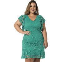 6c4399b0b7 Madame Chic. Vestido De Festa Plus Size Verde