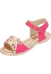 Sandália Infantil Plis Calçados Carinho Feminina - Feminino-Pink